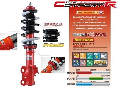 日本 Tanabe Sustec Pro CR 避震器 Toyota Previa 專用