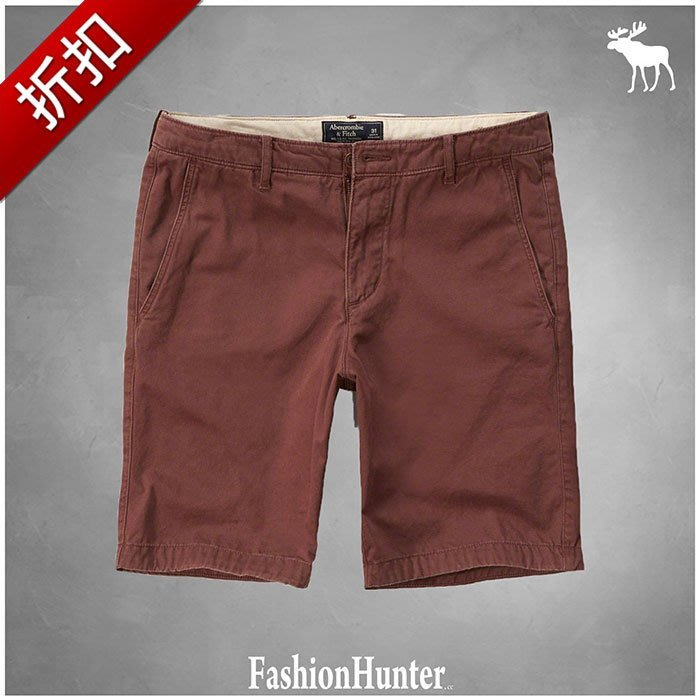 折扣【FH.cc】A&F 休閒短褲 Cargo Shorts 暗紅色 HCO