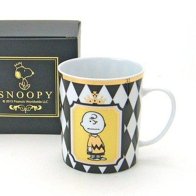 尼德斯Nydus~* 日本正版 Snoopy 史努比 查理布朗 杯子 馬克杯 350ml 高約9cm -日本製
