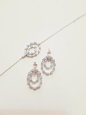 限時95折-folli follie 耳環(楕圓/銀飾)日本專櫃帶回全新正品(單售耳環,手鍊另有賣場)
