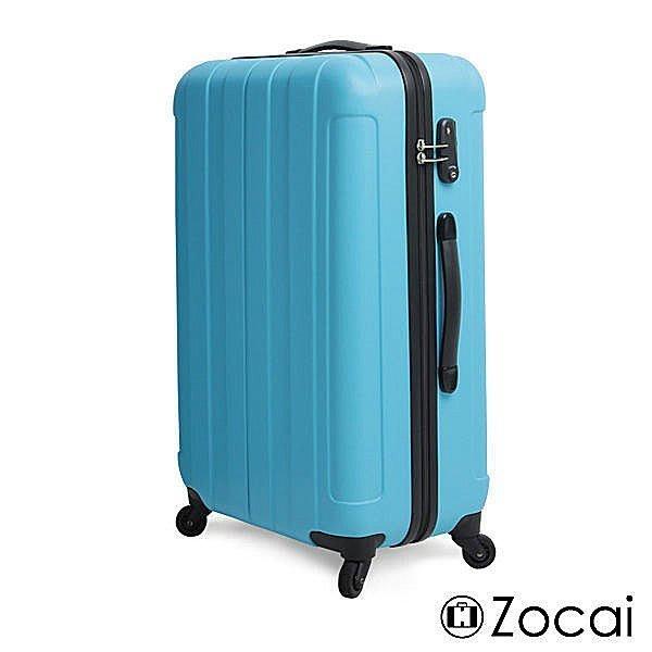 【葳爾登皮件】Zocai旅行家24吋防水硬殼abs旅行箱360度行李箱防刮霧面登機箱24吋208A藍色