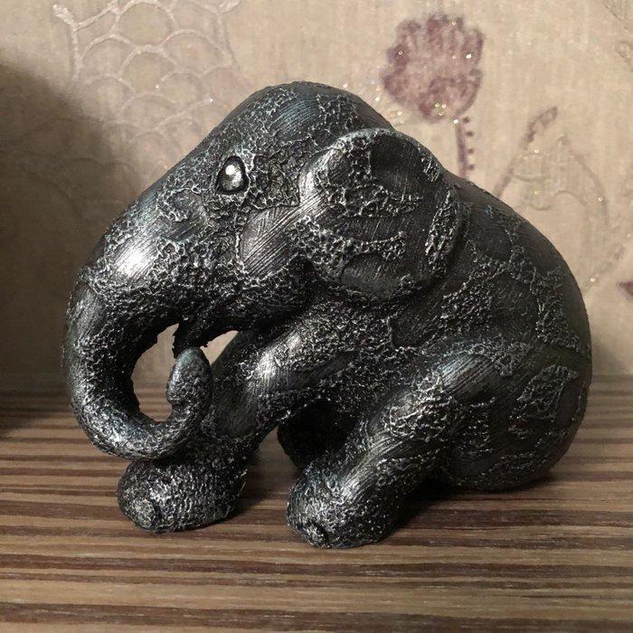 elephant parade坐姿大象(黑色10cm)