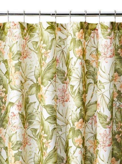 美國品牌Tommy Bahama 熱帶植物風浴簾~直購價1000