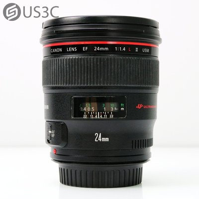 【US3C-松山店】公司貨 佳能 Canon EF 24mm F1.4 L II USM 廣角定焦鏡頭 單眼鏡頭 恒定光圈 二手鏡頭 附原廠遮光罩
