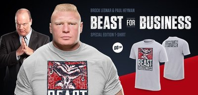 ☆阿Su倉庫☆WWE Brock Lesnar Beast For Business T-Shirt 野獸利益特別款