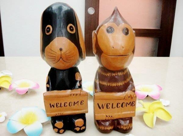 Y【永晴峇里島】巴里島歡迎狗狗擺飾/公仔,居家、民宿、飯店都好用-擺飾28@
