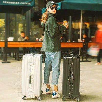#行李箱 #行李喼 #旅行箱 #拉桿箱 #luggage #trunk 行李箱女ins網紅復古直角鋁框拉桿箱男旅行箱萬向輪密碼登機箱子