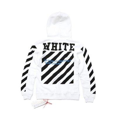 SS16 Off-White Blue Collar 帽T Size:S 現貨