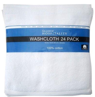 「好市多」Grandeur 商用純棉方巾 33x33公分,19元/條,有15入,可併運