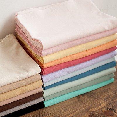 戀物星球 加厚純色棉麻布料沙發面料亞麻布藝抱枕桌布窗簾田園素色掛布