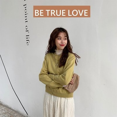 416(1) BE TRUE LOVE早春必備款針織外套