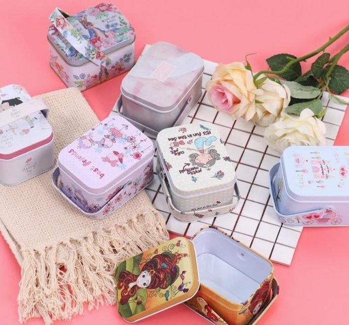 紫滕戀推出新人喜糖盒子喜糖包裝盒回禮盒手挽小鐵盒