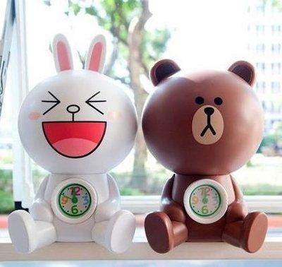 7-11 兔兔 熊大LINE 造型超大立體公仔玩具鬧鐘存錢筒 兔兔 熊大  現貨