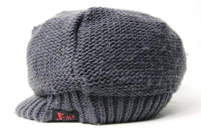 【古物箱~霹靂膠囊】日本版 X-NIX 毛線編織 古著系 毛線帽 報童帽(二手 古著 老件 vintage)