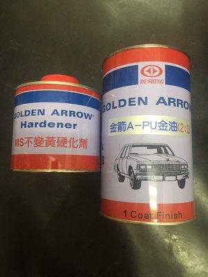 金箭PU烤漆金油 汽車烤漆 含硬化劑 透明亮光 油老爺快速出貨