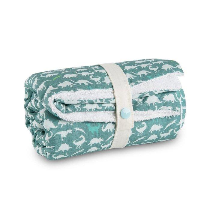 〖洋碼頭〗法國原產母嬰用品Carotte-Cie嬰兒毯新生兒抱毯爬行毯恐龍印花 L3131