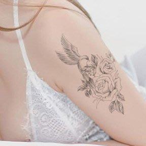 【萌古屋】線條花鳥手臂花臂 - 男女防水紋身貼紙微刺青貼紙SY-B108 K29