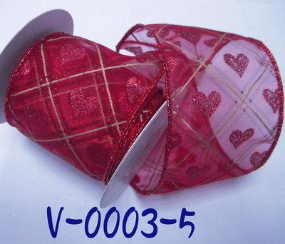 愛心印刷拷克帶【V-0003-5】~Janes Gift~Ribbon