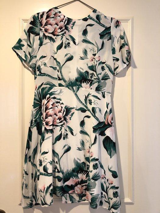 類Burberry純絲花洋裝