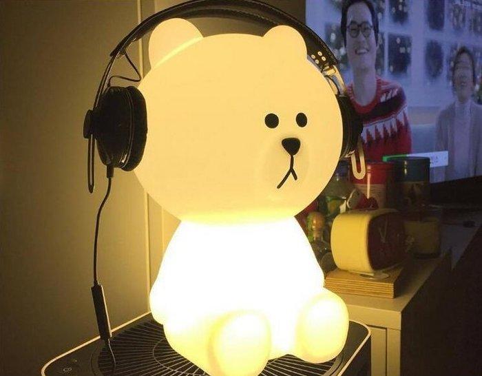布朗熊米菲兔小夜燈兒童玩具歐美房間裝飾品led檯燈大型