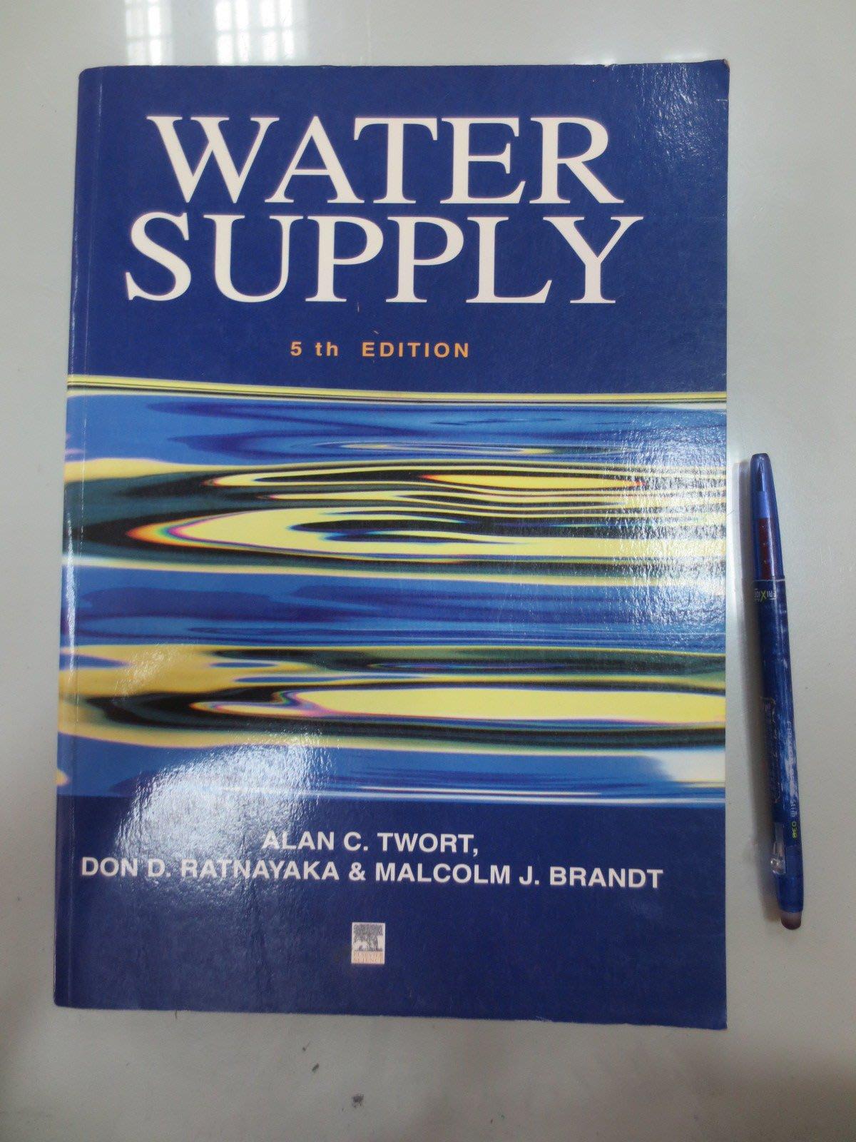 6980銤:D6-4cd☆2000年出版『Water Supply 5/e』TWORT《ARNOLD》