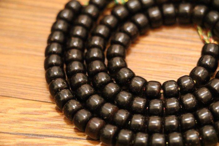 Tibukkyo 現貨 椰蒂 印尼料 極金工藝 8x6mm 桶珠 8*6 菩提子 藏傳佛教 不染色 能清楚看到棕線 佛珠