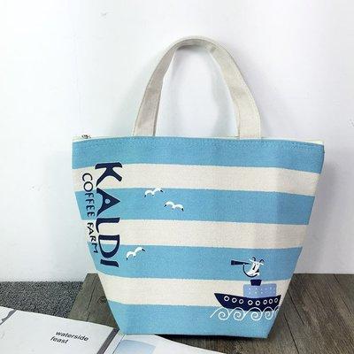 朵拉媽咪【現貨回饋價】日本 KALDI 棉麻 厚實 保鮮袋 保溫袋 保冷袋COFFEE FARM 咖啡雜貨品牌 手提袋