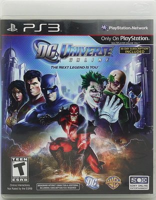 【二手遊戲】PS3 DC 超級英雄線上 DC UNIVERSE ONLINE 英文版【台中恐龍電玩】
