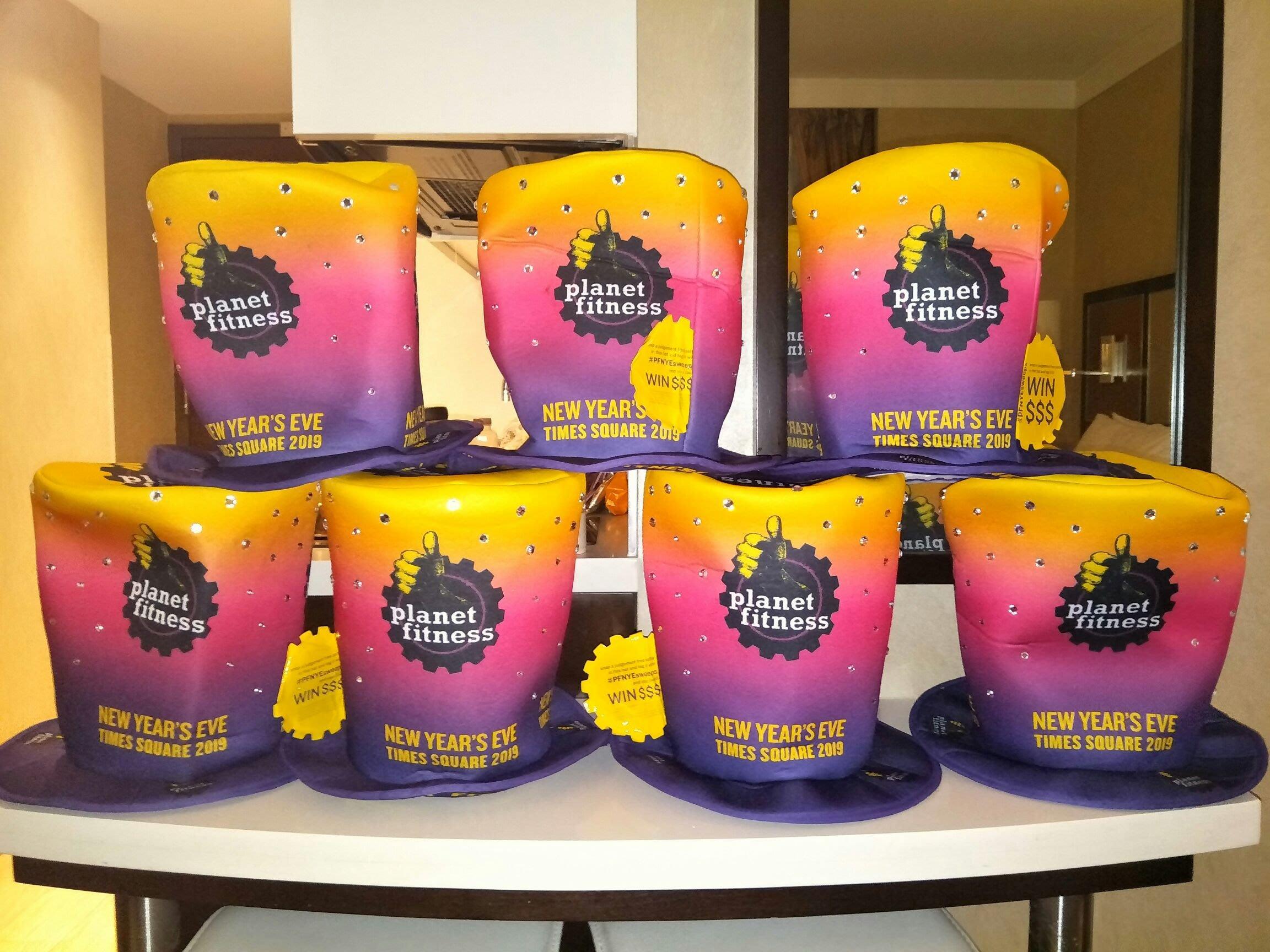 紐約 時代廣場 2018跨年紀念水鑽帽