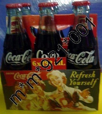 可口可樂 Coca Cola 玻璃樽裝汽水共6樽