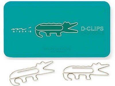 【R的雜貨舖】MIDORI Design Gem Clips/ Crocodile 鱷魚迴紋針 書籤