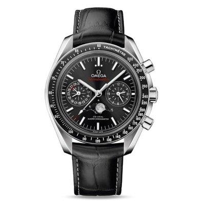 【玩錶交流】全新品 OMEGA Speedmaster 超霸月相登月 皮帶 9904同軸 30433445201001