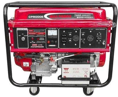 [ 家事達 ]   MAX-POWER  電動起動四行程發電機-8000W (含輪) 殺很大