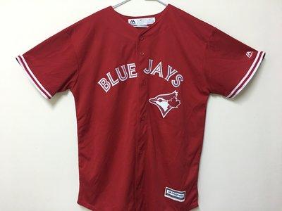 MLB 美國職棒大聯盟 多倫多藍鳥隊 紅色 棒球衣 青年版 Majestic Toronto Blue Jays