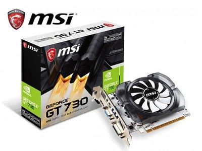 「Sorry」MSI 微星 N730-2GD3V3 顯示卡 PCI-E 大風扇 2G DDR3 128bit