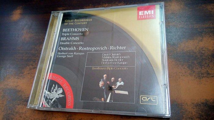 好音悅 Oistrakh Rostropovich Richter 貝多芬 三重協奏曲 布拉姆斯 雙重協奏曲 EMI