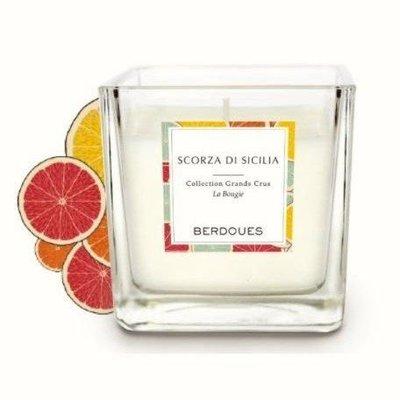 法式手工香氛蠟燭-西西里清甜柑橘180g(隨機贈送祈禱燭49g)