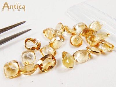 【Antica 安帝卡珠寶】《我最優惠》方正招財開運 黃水晶 平均重量1.7~2ct之間 限量10顆,隨機出貨 台中市