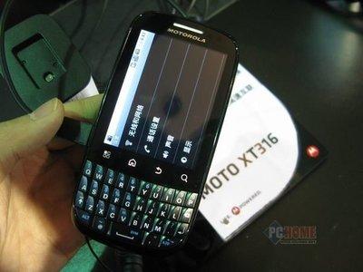 ☆展示機☆ Motorola XT316 311 黑莓機 Android 安卓智慧觸控 3G 貨到付款 宅配優惠免運