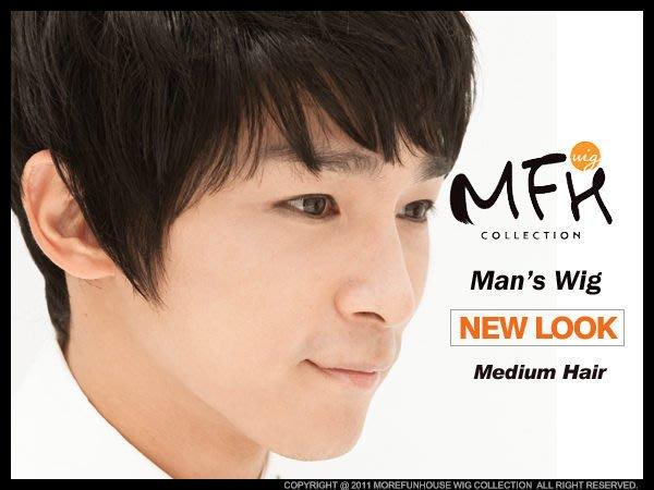 MFH韓國男生假髮  動感髮束潮流款【M016001】酷感黑 男生髮型 男假髮 男造型假髮 學生氣質 暖男