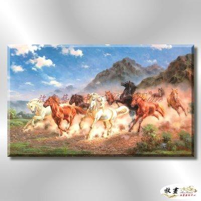 【放畫藝術】馬116 純手繪 油畫 橫幅 褐咖 中性色系 動物 大自然 藝術畫 掛畫 生肖 客廳 裝潢 室內設計