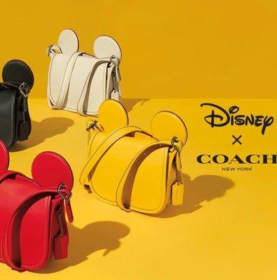 ☆現貨☆ Coach × Disney 最新 限量 米奇聯名款大耳朵斜背包