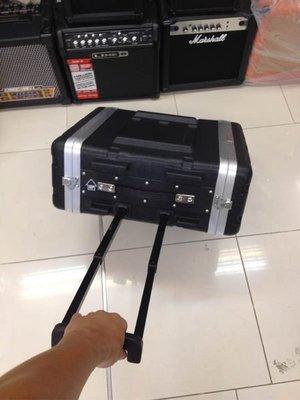 【金聲樂器】專業 3U RACK 瑞克箱 ABS 硬盒 附輪子 手拉桿