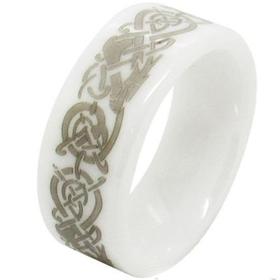 coi jewelry ceramic dragon  wedding band ring 戒指Available with all sizes