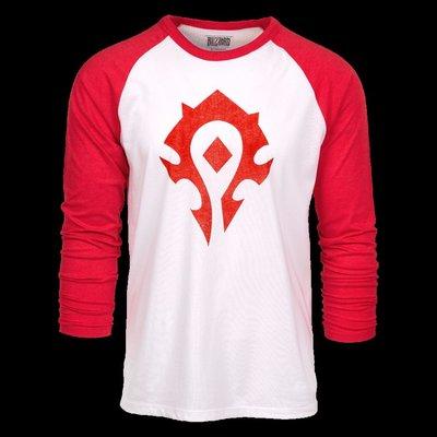 【丹】暴雪商城_World of Warcraft Horde Heather Raglan 魔獸世界 部落 長袖 T恤