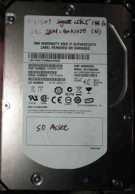 SAS良品IBM硬碟146GB 3.5吋硬碟15K.5 CHEETAH 146G ST3146855SS SEAGATE
