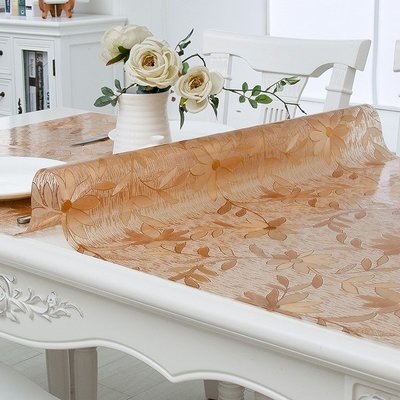 金囍-軟質玻璃桌墊清雅花型防水防油防燙免洗餐桌茶幾墊#熱銷#超值特惠