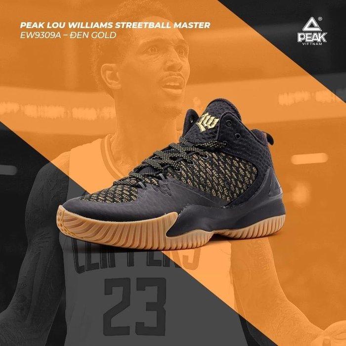 PEAK 籃球鞋 Lou Williams 街霸系列 T38  黑白    亮禹體育PEAK台灣經銷商