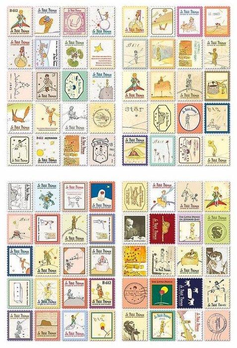 愛麗絲 小王子 倫敦款 巴黎款 義大利款 復古郵票 主題貼紙 - 套裝 80枚