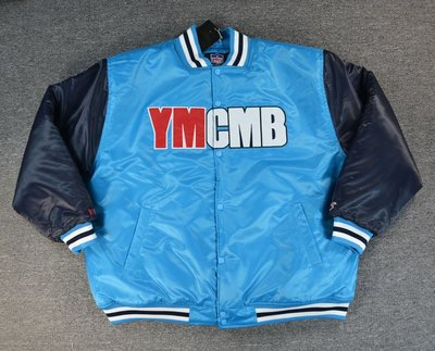 Cover Taiwan 官方直營 YMCMB 棒球外套 嘻哈 音樂廠牌 藍色 Drake Tyga 大尺碼 (預購)